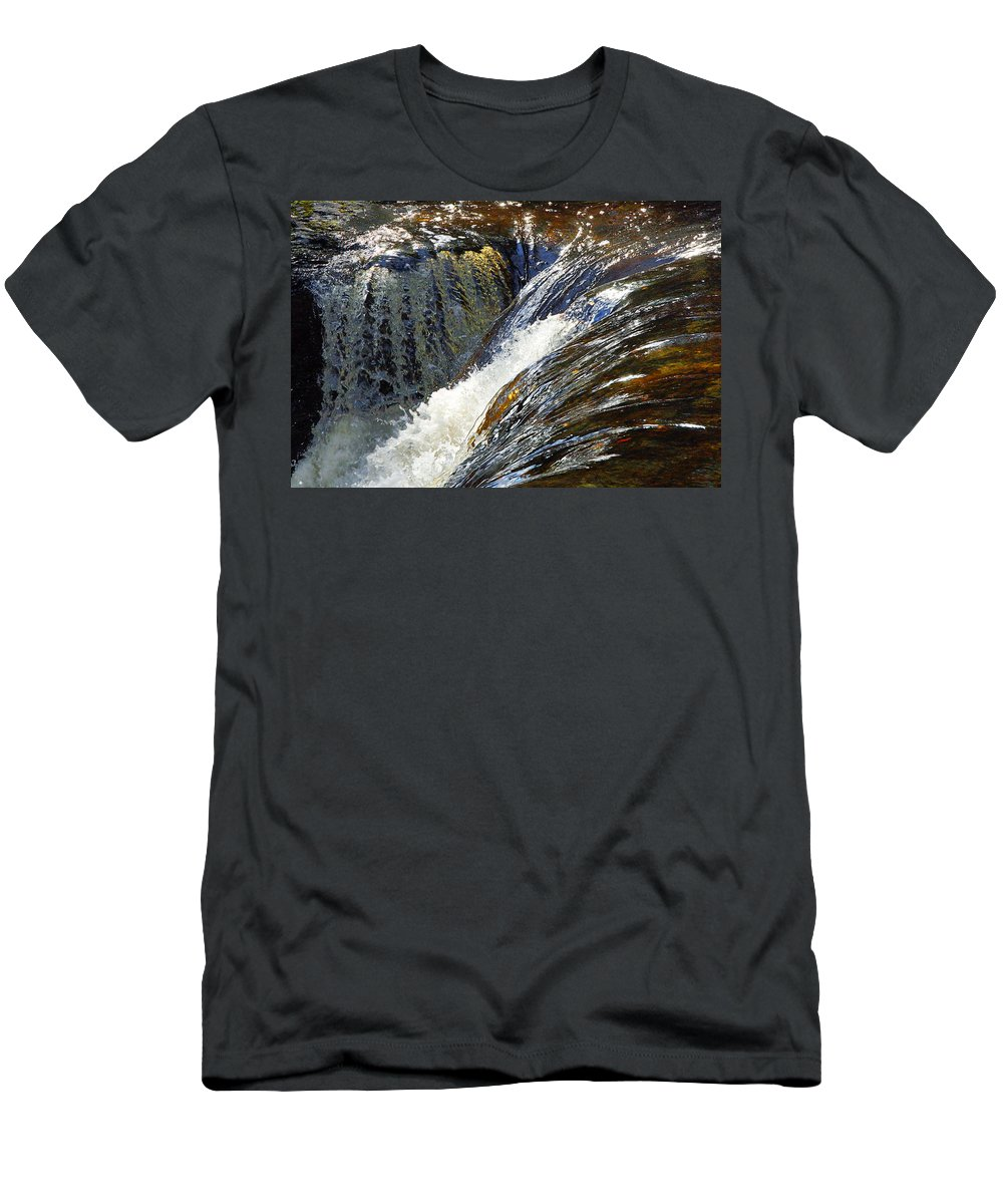 Water Men's T-Shirt (Athletic Fit) featuring the photograph Ravenskill Falls by Francesa Miller