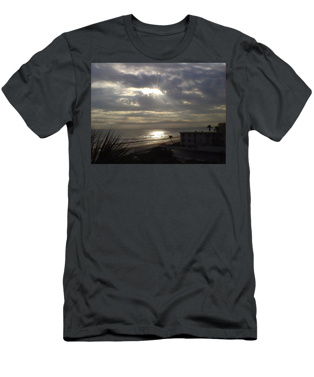 Landscape Men's T-Shirt (Athletic Fit) featuring the photograph Ray Of Light by Charleen Treasures