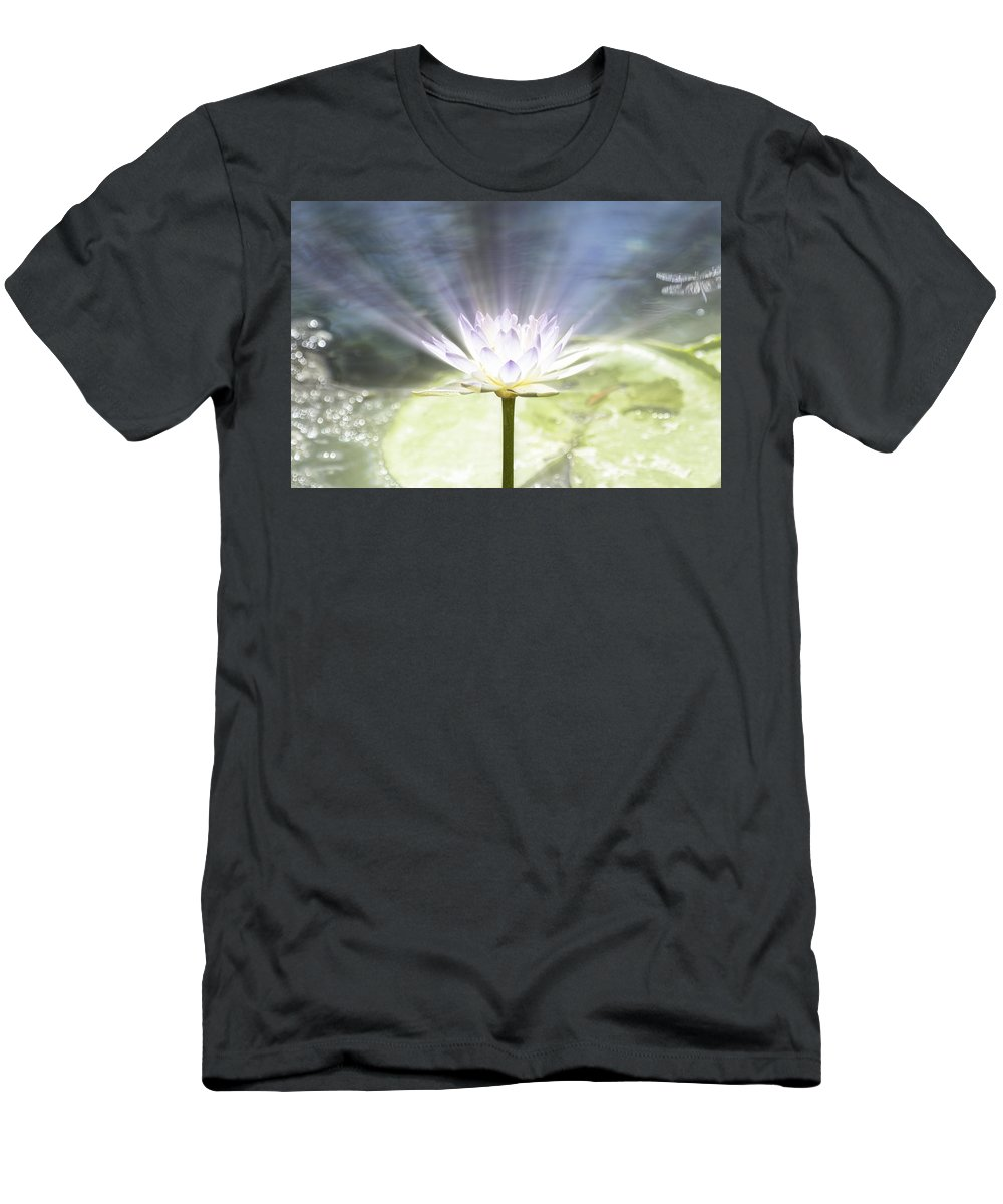 Rays Men's T-Shirt (Athletic Fit) featuring the photograph Rays Of Hope by Douglas Barnard