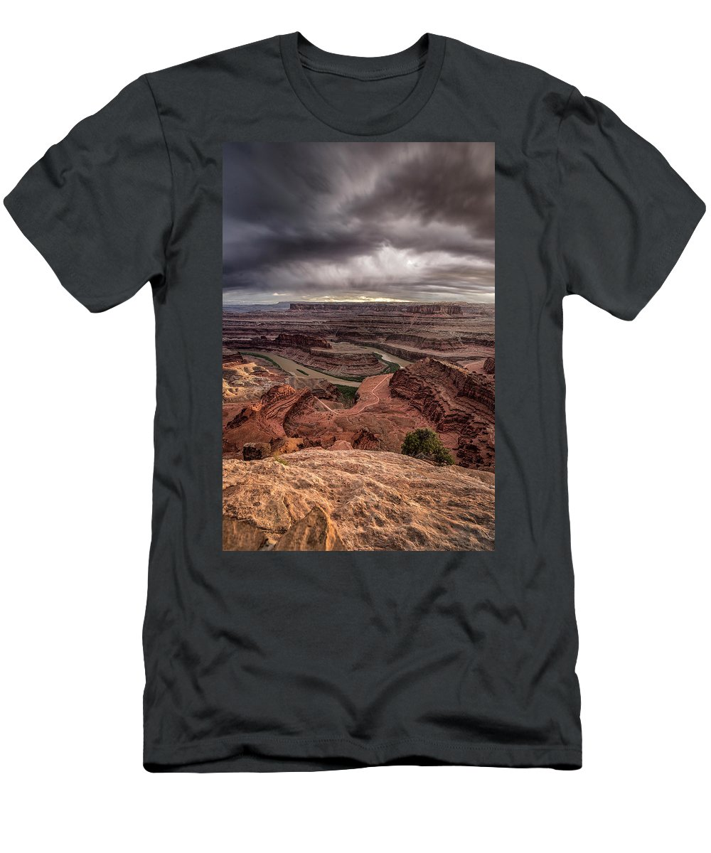 Utah Men's T-Shirt (Athletic Fit) featuring the photograph Ready For Rain by Robert Fawcett