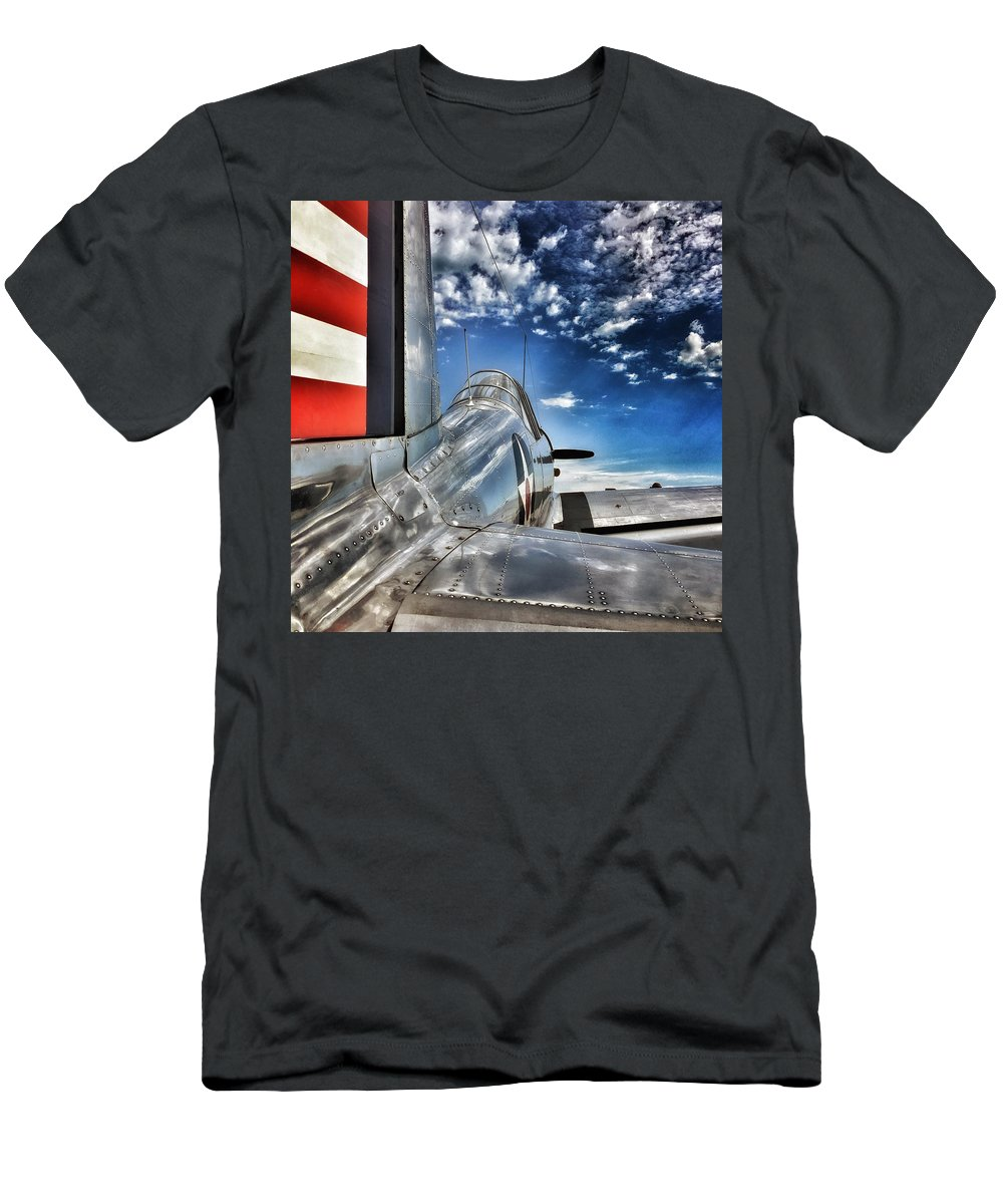Military Aviation Men's T-Shirt (Athletic Fit) featuring the photograph Ready For Take Off by Kristen Cole