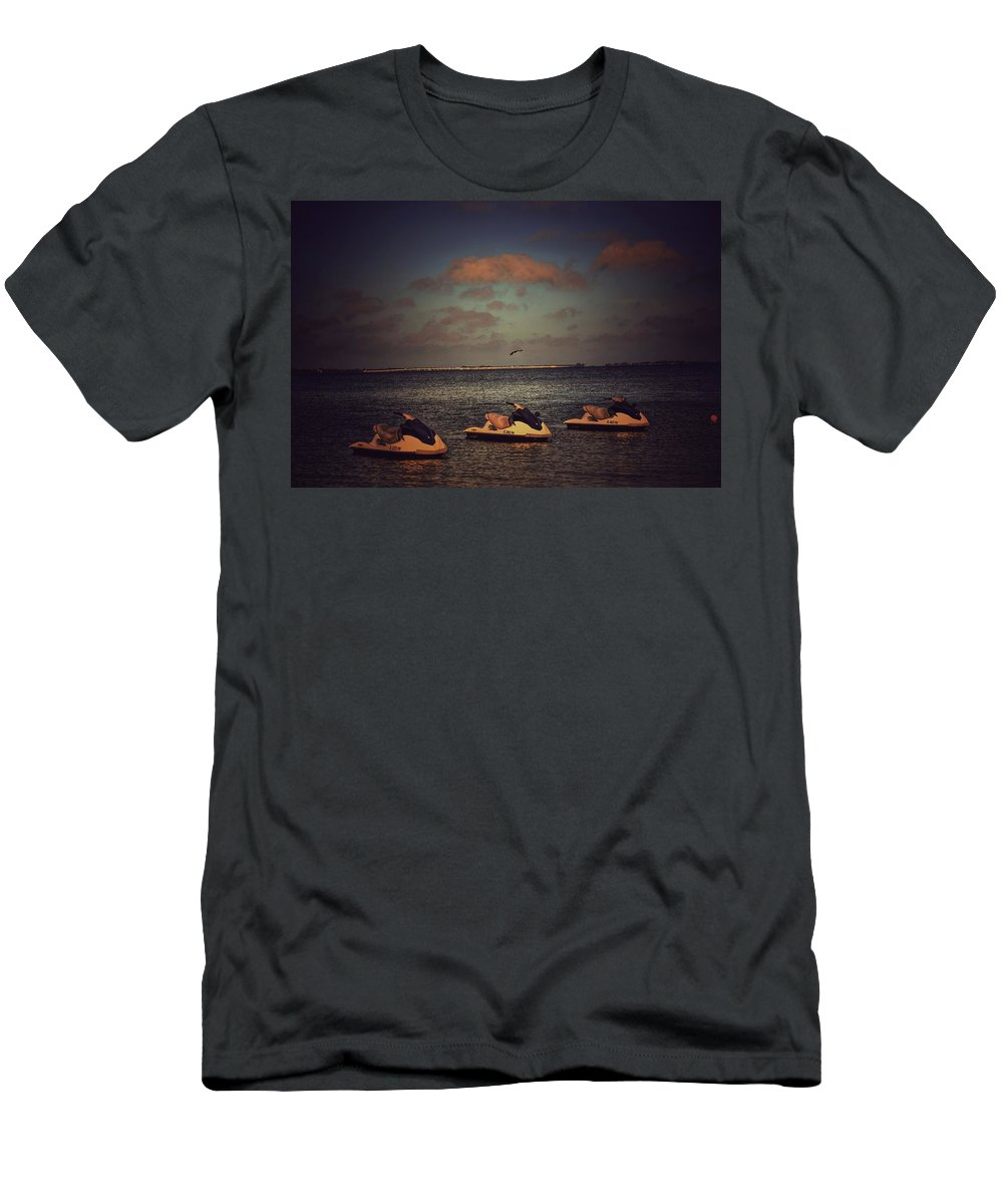 Waverunners Men's T-Shirt (Athletic Fit) featuring the photograph Ready To Ride by Shelley Smith