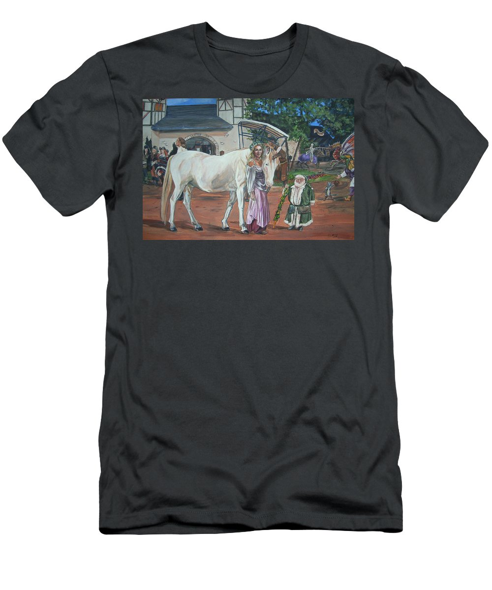Renaissance Men's T-Shirt (Athletic Fit) featuring the painting Real Life In Her Dreams by Bryan Bustard
