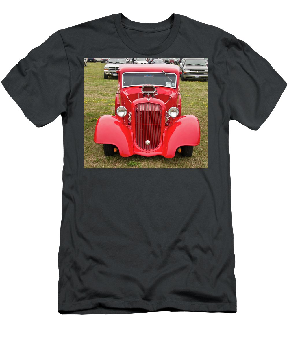 Antique Car Men's T-Shirt (Athletic Fit) featuring the photograph Red 1990 by Guy Whiteley