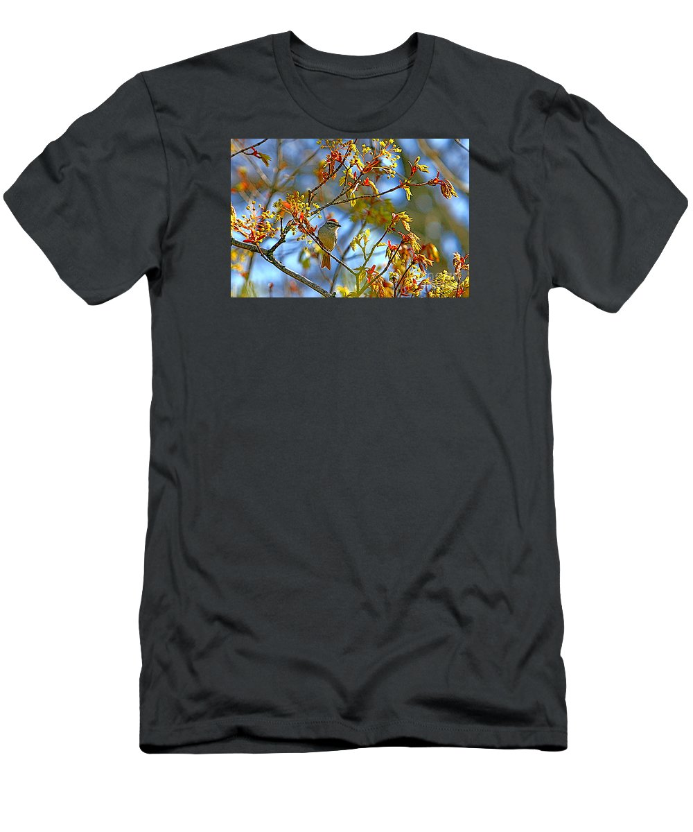 Nature Men's T-Shirt (Athletic Fit) featuring the photograph Red Cap by Marle Nopardi
