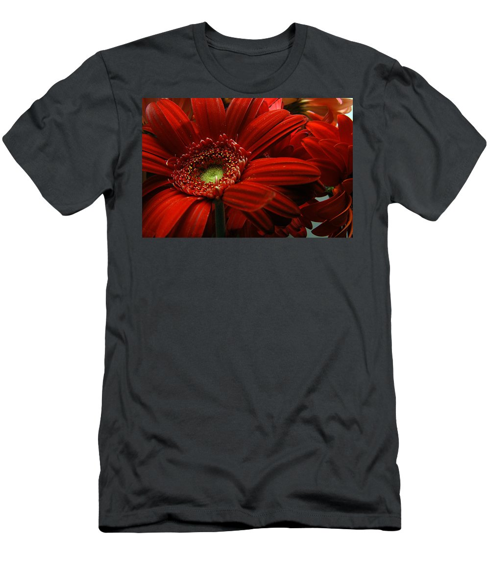Clay Men's T-Shirt (Athletic Fit) featuring the photograph Red Floral by Clayton Bruster