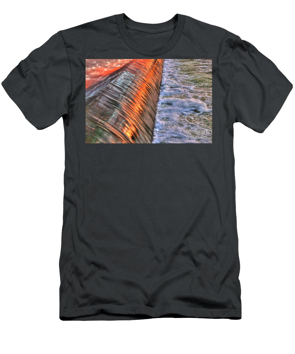 Water Artwork Men's T-Shirt (Athletic Fit) featuring the photograph Red Reflection by Robert Pearson