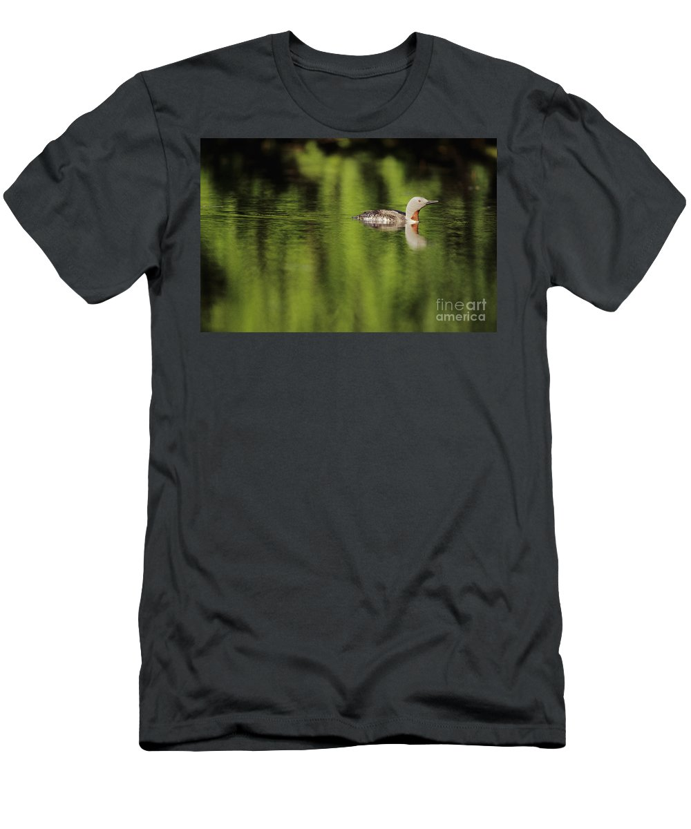 Alaska Men's T-Shirt (Athletic Fit) featuring the photograph Red Throated Loon by John Hyde - Printscapes