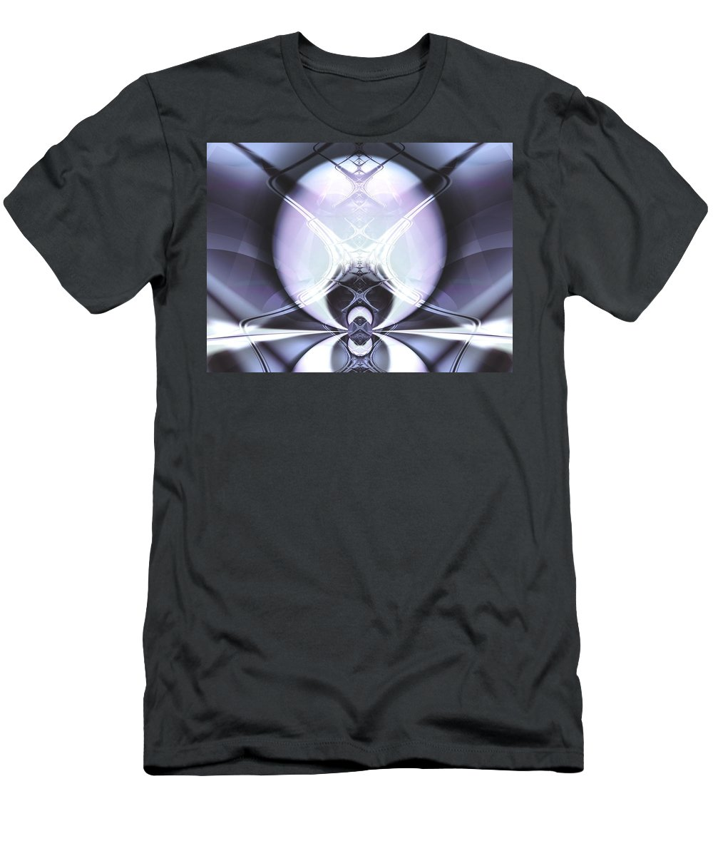 Digital Art Men's T-Shirt (Athletic Fit) featuring the digital art Reflecting Gateway by Frederic Durville