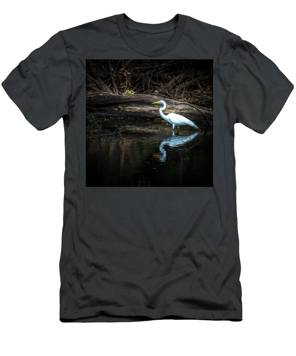 Reflecting Men's T-Shirt (Athletic Fit) featuring the photograph Reflecting White by Marvin Spates