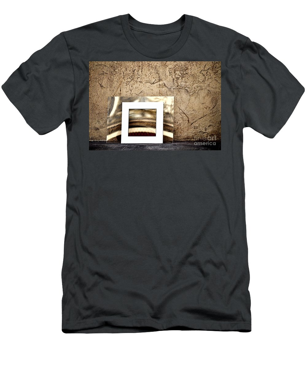 Reflection Men's T-Shirt (Athletic Fit) featuring the photograph Reflection Against The Wall by Frances Ann Hattier