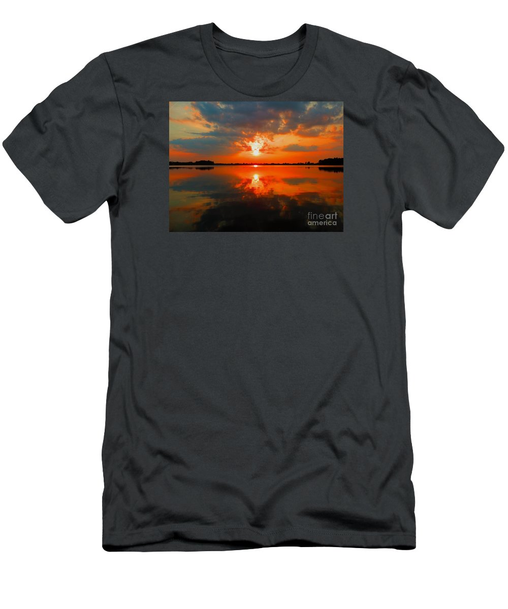 Men's T-Shirt (Athletic Fit) featuring the photograph Reflection Of Beauty by William Caine