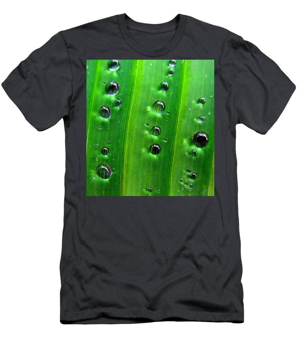 Drops Men's T-Shirt (Athletic Fit) featuring the photograph Reflections Drops by Dragica Micki Fortuna
