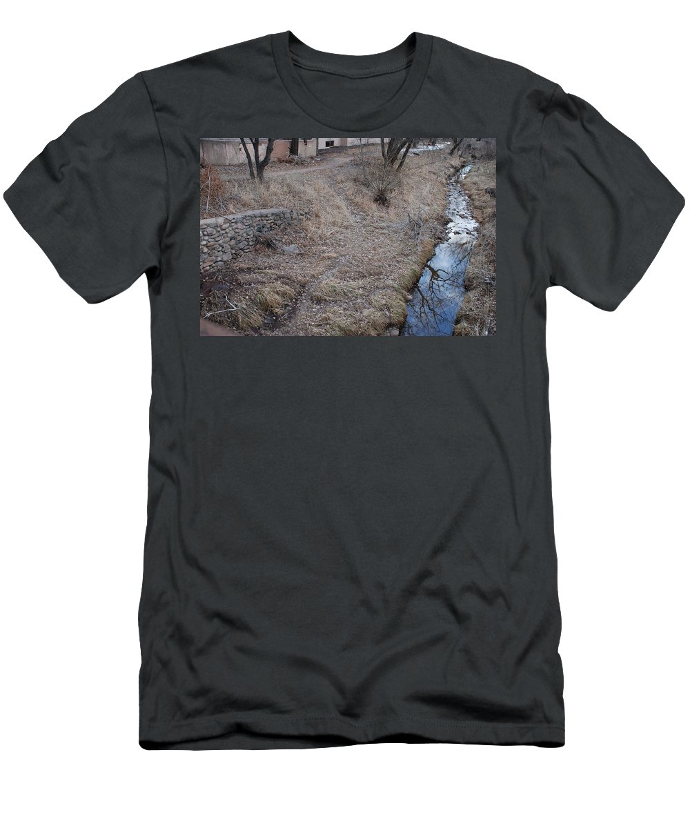 Water Men's T-Shirt (Athletic Fit) featuring the photograph Reflections In The River by Rob Hans