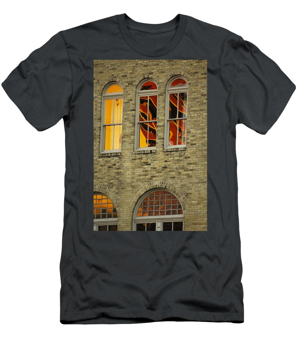 Urban Men's T-Shirt (Athletic Fit) featuring the photograph Reflections by Jill Reger