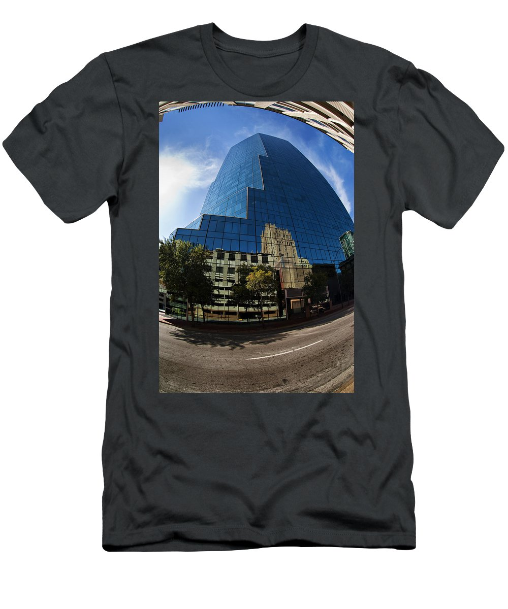 Urban Men's T-Shirt (Athletic Fit) featuring the photograph Reflections Of Fort Worth by Renee Hong