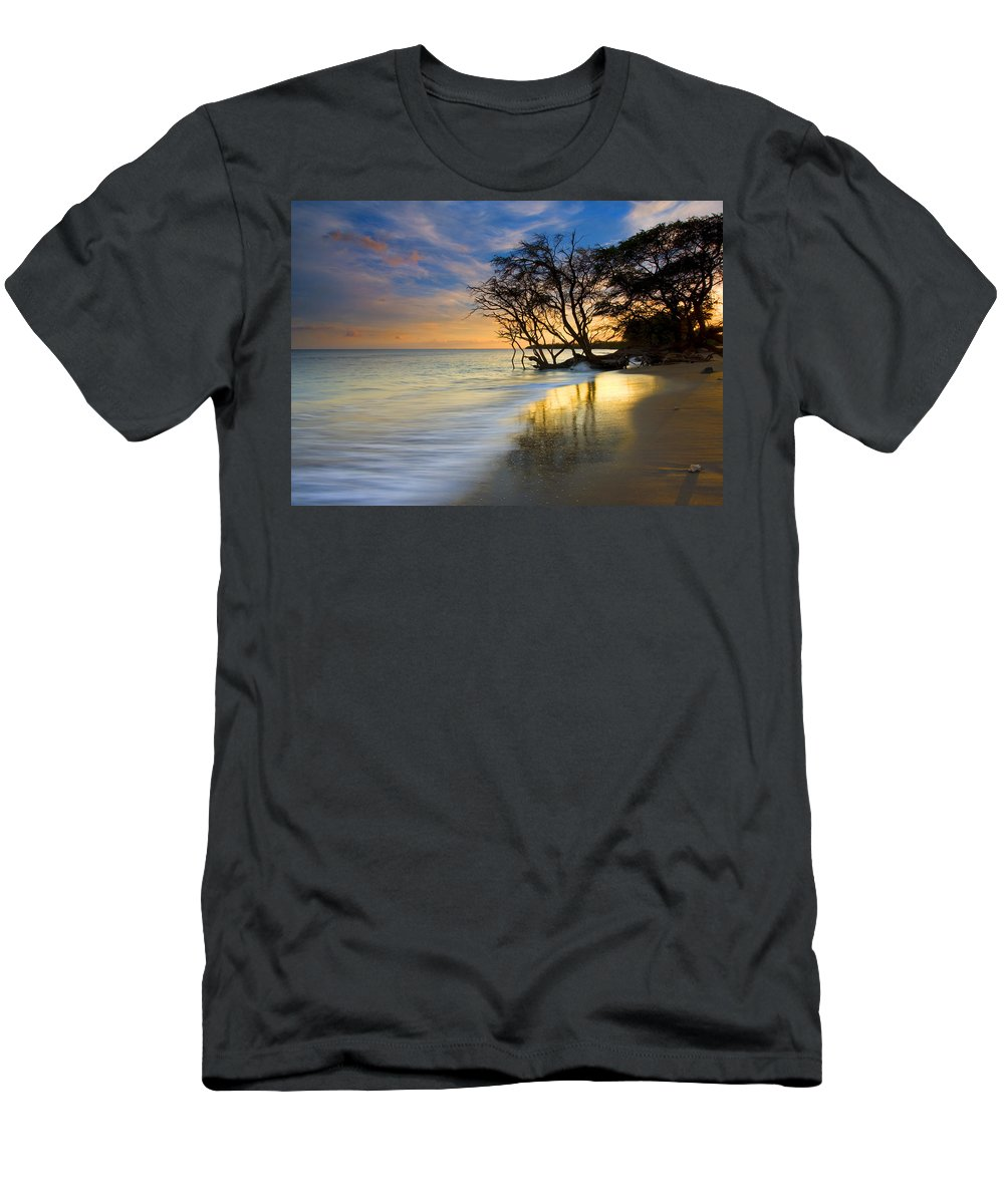 Waves T-Shirt featuring the photograph Reflections of PAradise by Mike Dawson