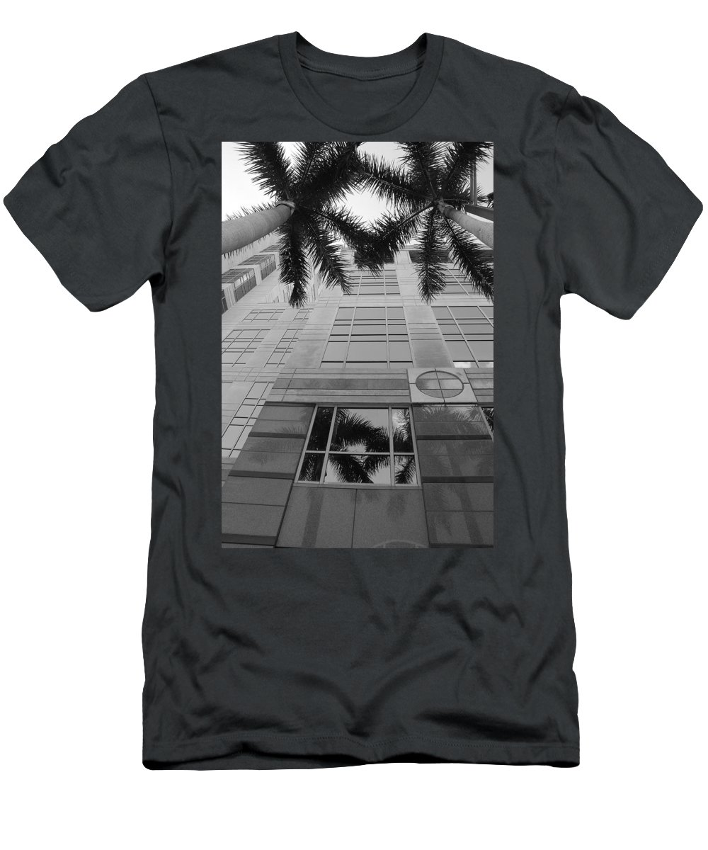 Architecture Men's T-Shirt (Athletic Fit) featuring the photograph Reflections On The Building by Rob Hans