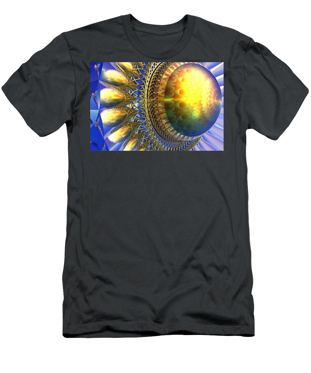 Bryce Men's T-Shirt (Athletic Fit) featuring the digital art Reflections On The Day Just Beginning by Lyle Hatch