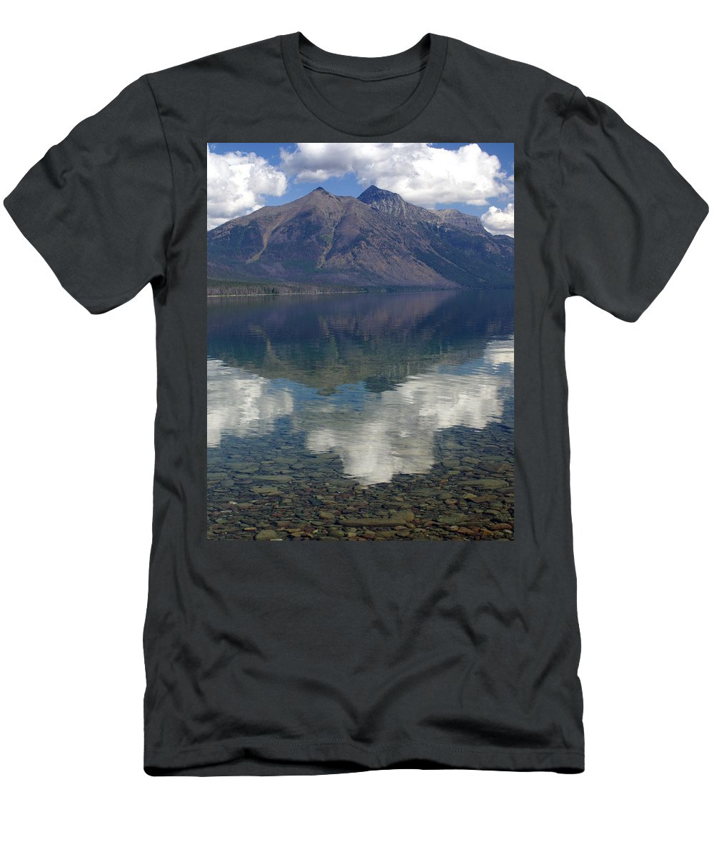 Lake Men's T-Shirt (Athletic Fit) featuring the photograph Reflections On The Lake by Marty Koch