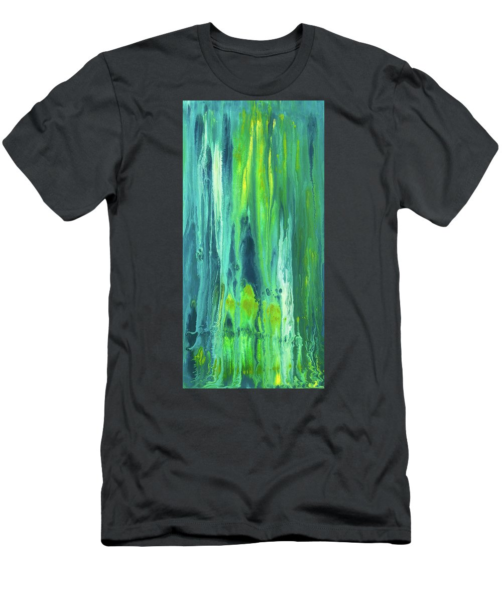 Abstract Painting Men's T-Shirt (Athletic Fit) featuring the painting Reflective Endurance by Dianne Bartlett