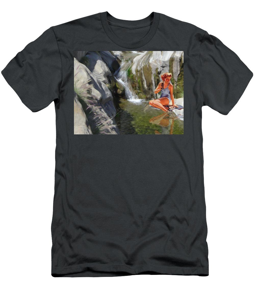 Deserts Men's T-Shirt (Athletic Fit) featuring the digital art Refreshments by Snake Jagger