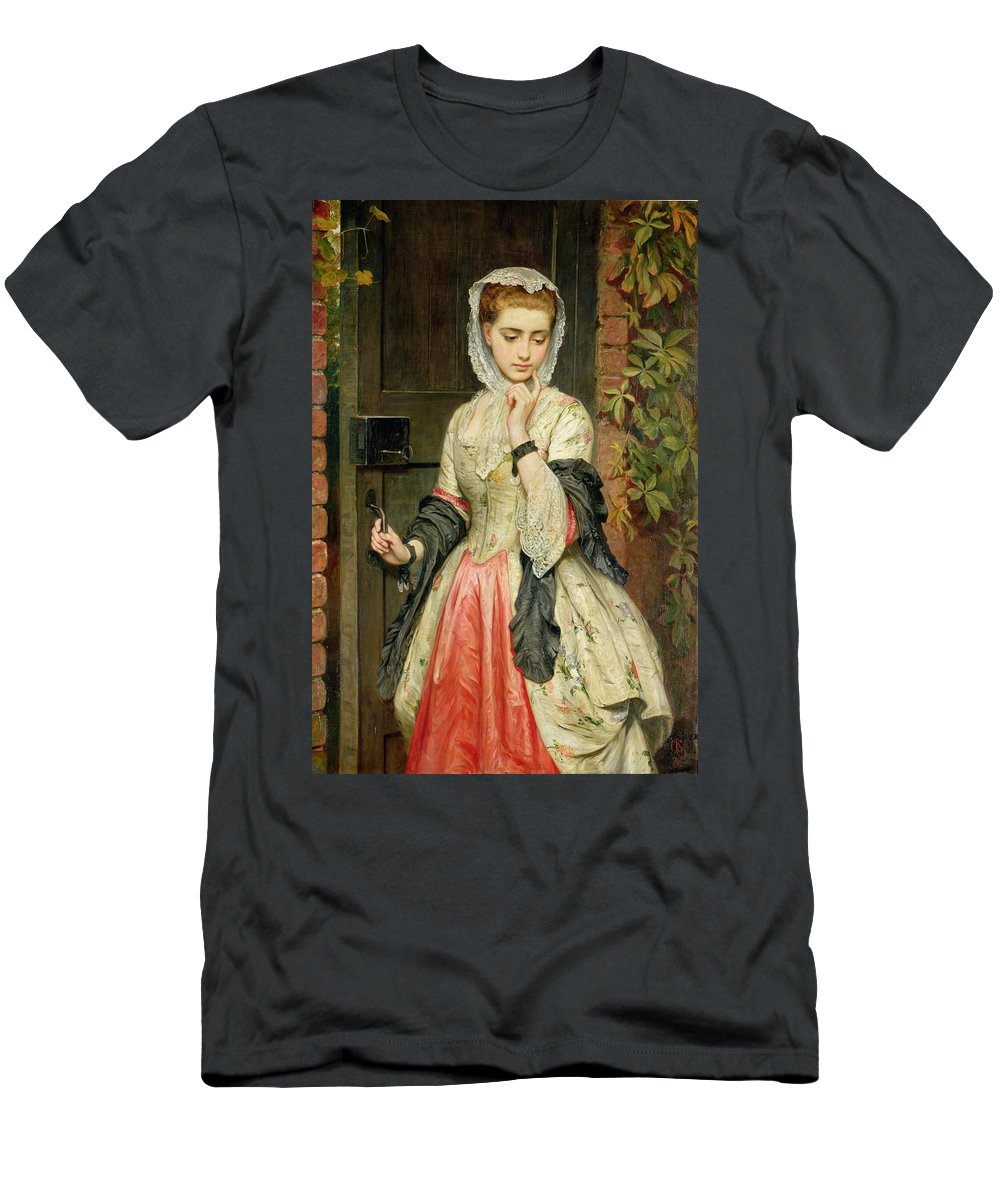 Rejected Men's T-Shirt (Athletic Fit) featuring the painting Rejected Addresses by Charles Sillem Lidderdale