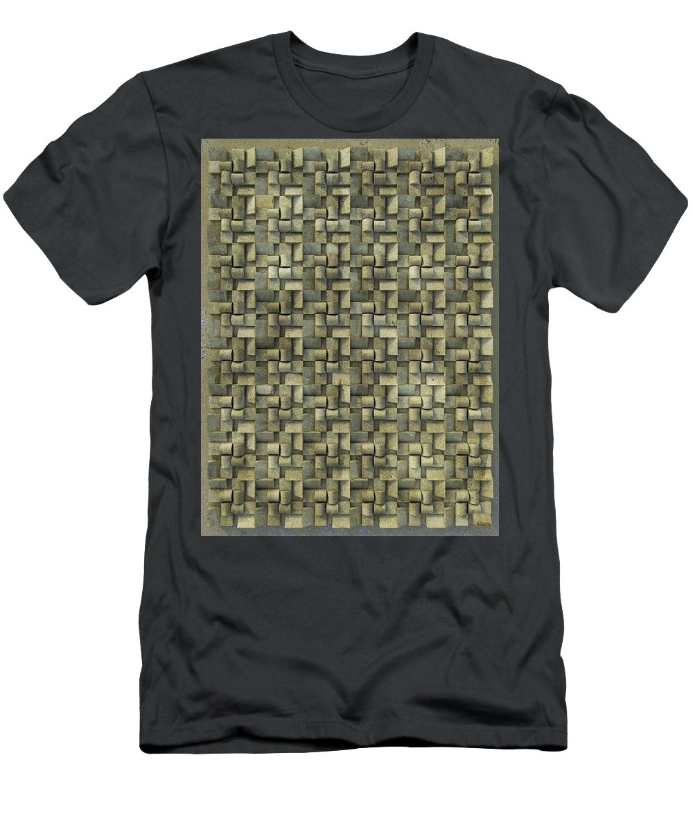 Relief Men's T-Shirt (Athletic Fit) featuring the photograph Relief N2 Sand by Frans Blok