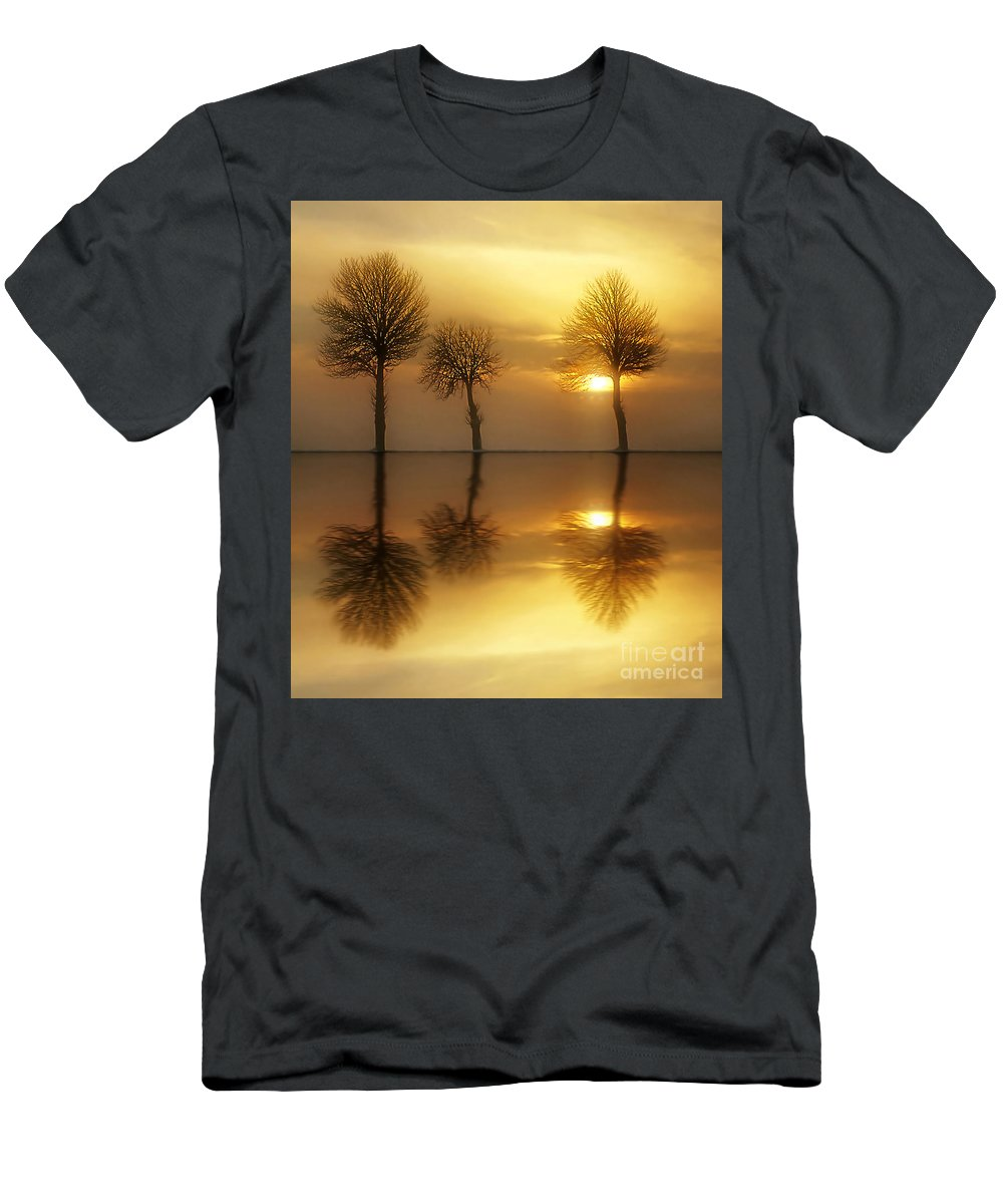 Sunset Men's T-Shirt (Athletic Fit) featuring the photograph Remains Of The Day by Jacky Gerritsen