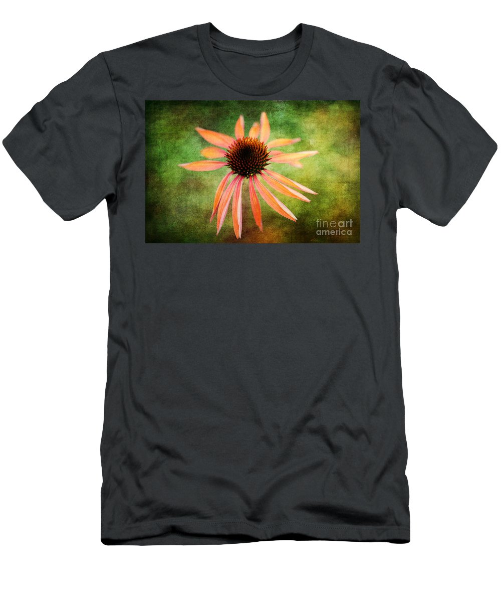 Flowers Men's T-Shirt (Athletic Fit) featuring the photograph Remembering Summer by Lois Bryan