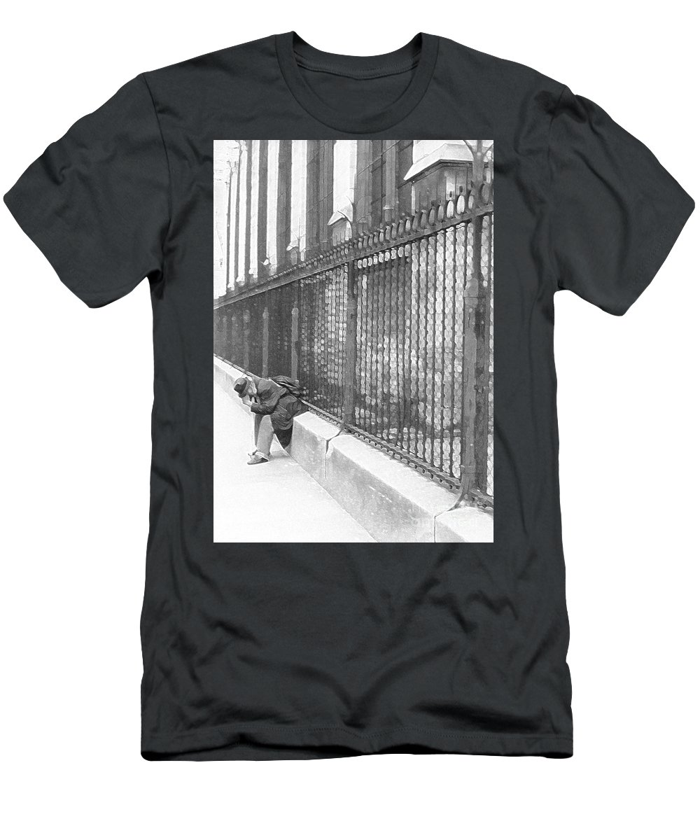 Notre Dame Men's T-Shirt (Athletic Fit) featuring the photograph Remorse by Christine Jepsen