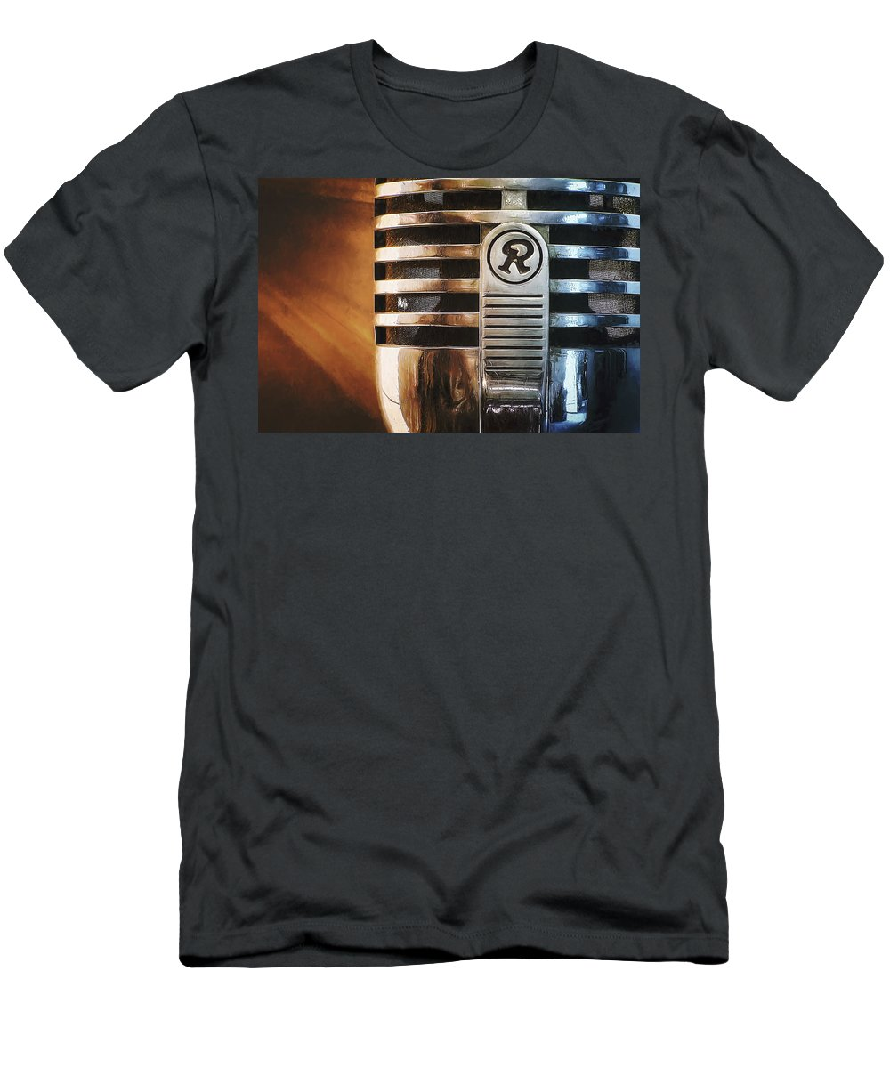 Mic T-Shirt featuring the photograph Retro Microphone by Scott Norris