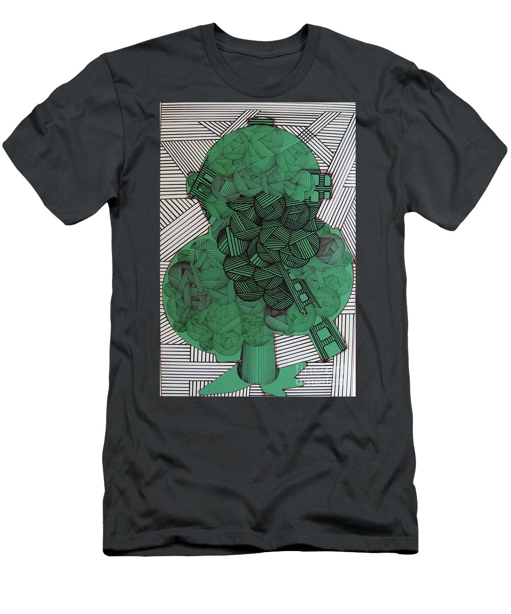 Apple Tree Men's T-Shirt (Athletic Fit) featuring the drawing Rfb0502 by Robert F Battles