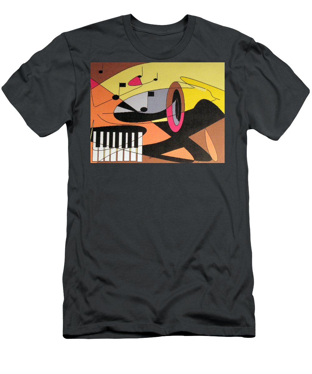 Music Men's T-Shirt (Athletic Fit) featuring the digital art Rhapsody by Ian MacDonald