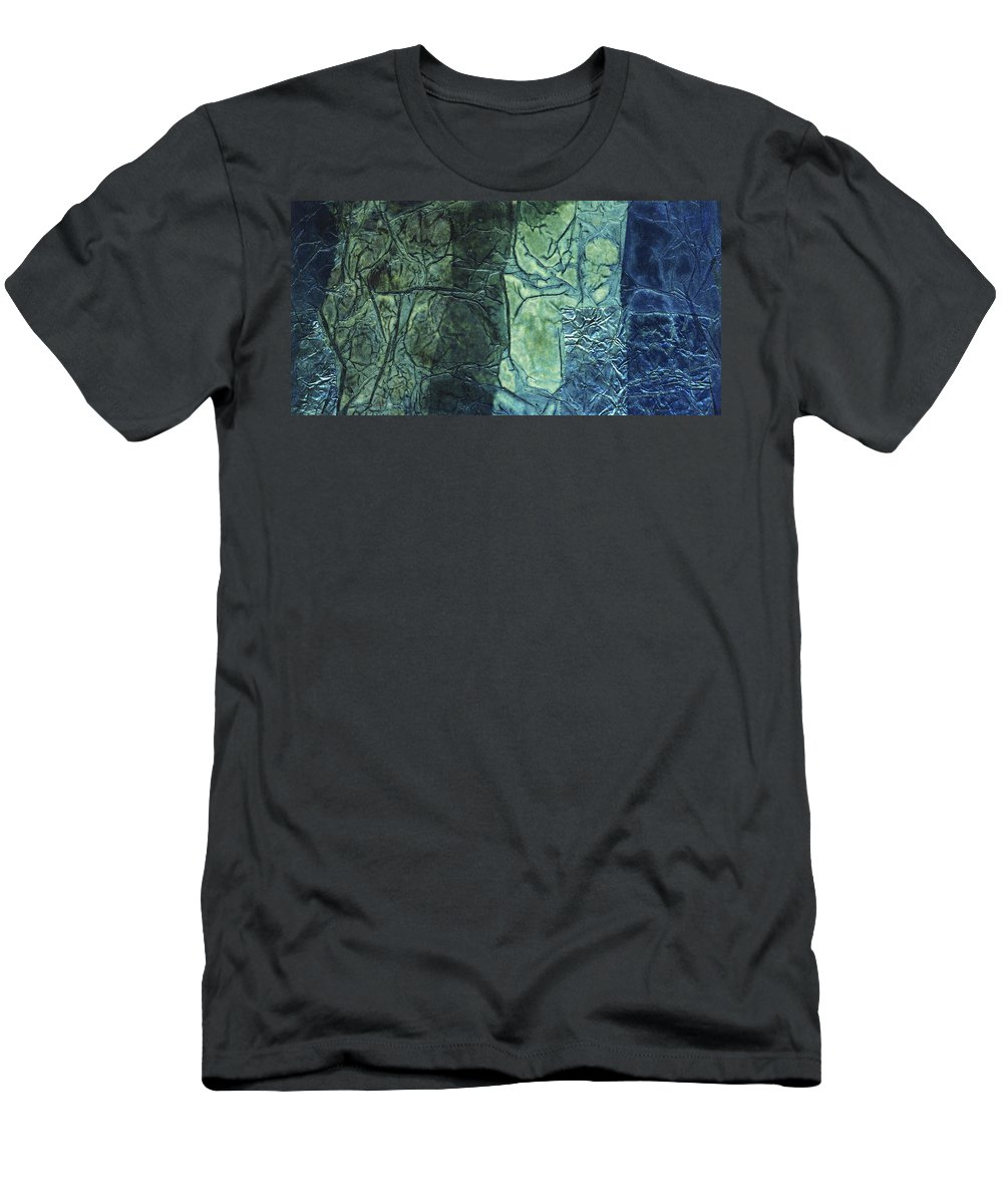 Abstract Men's T-Shirt (Athletic Fit) featuring the mixed media Rhapsody Of Colors 43 by Elisabeth Witte