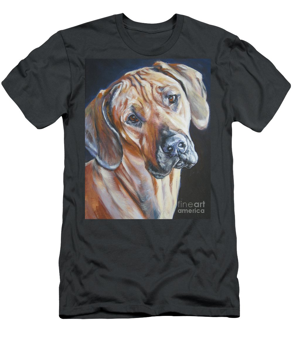 Dog Men's T-Shirt (Athletic Fit) featuring the painting Rhodesain Ridgeback by Lee Ann Shepard