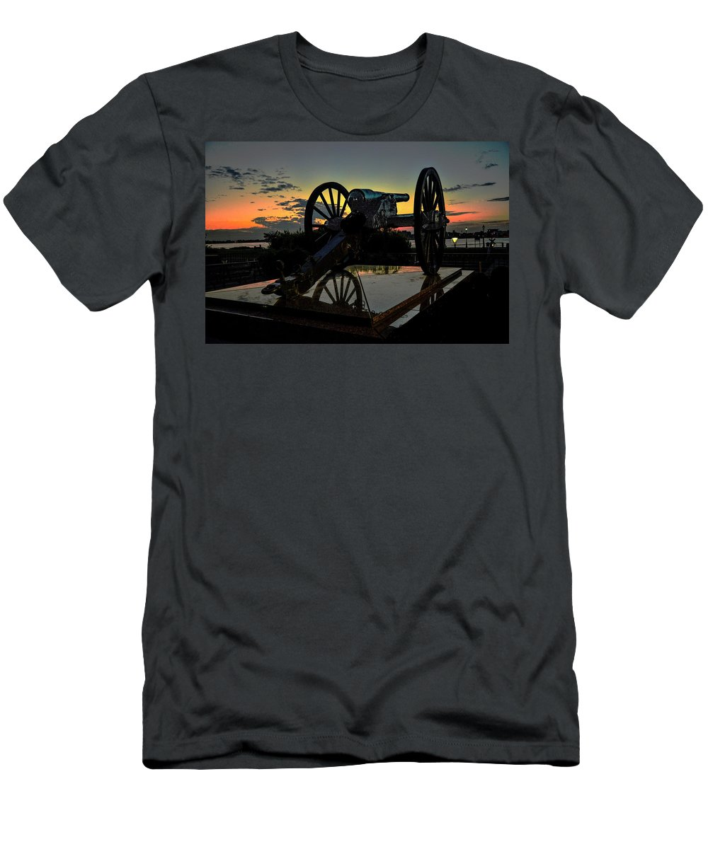 New Orleans Men's T-Shirt (Athletic Fit) featuring the photograph Ride Into The Sun by Jeff Watts