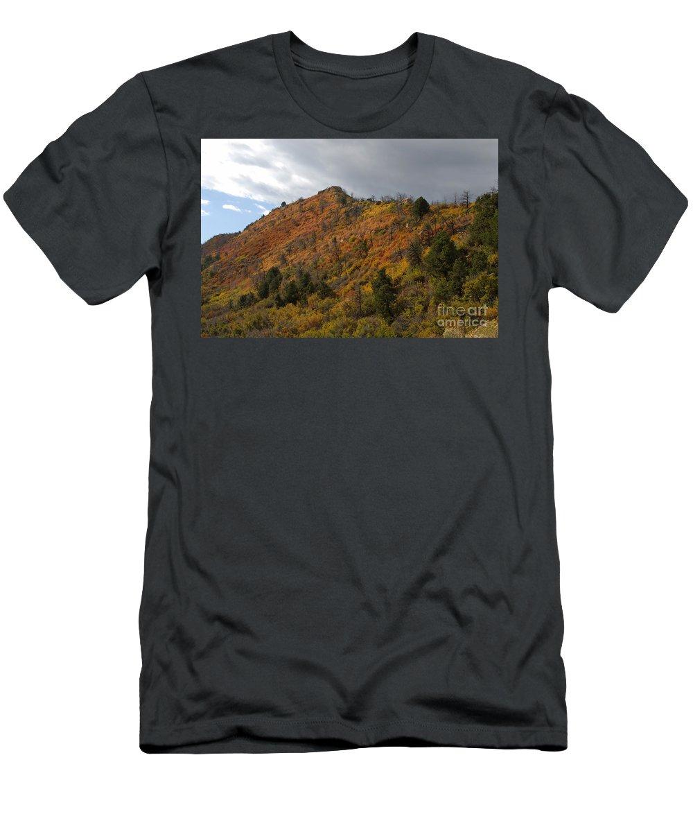 Landscape Men's T-Shirt (Athletic Fit) featuring the photograph Ridge Line by David Lee Thompson