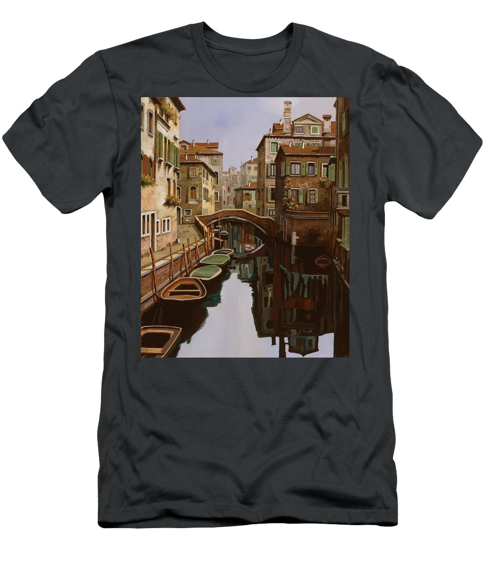 Venice T-Shirt featuring the painting Riflesso Scuro by Guido Borelli