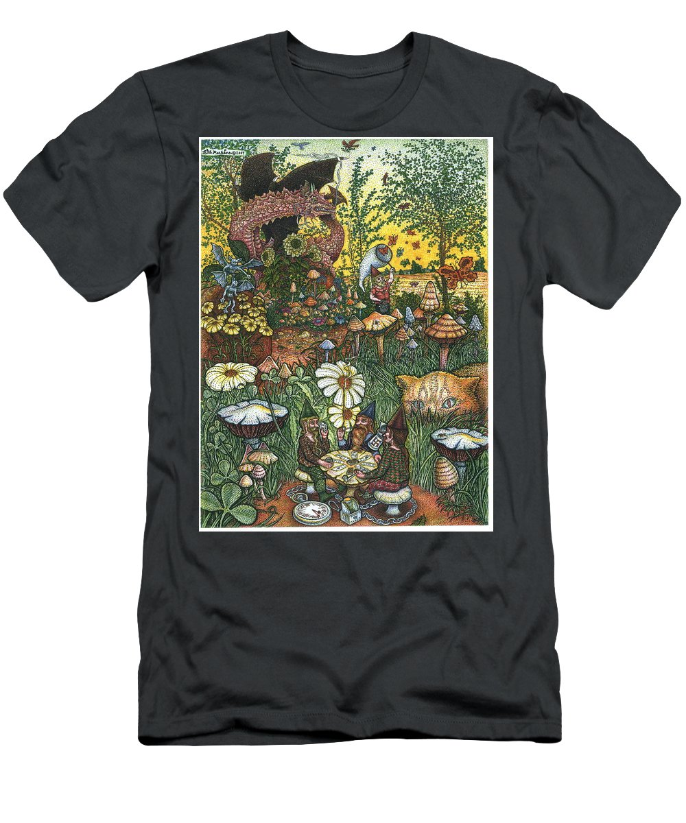 Landscape Men's T-Shirt (Athletic Fit) featuring the drawing Ring Cycle by Bill Perkins