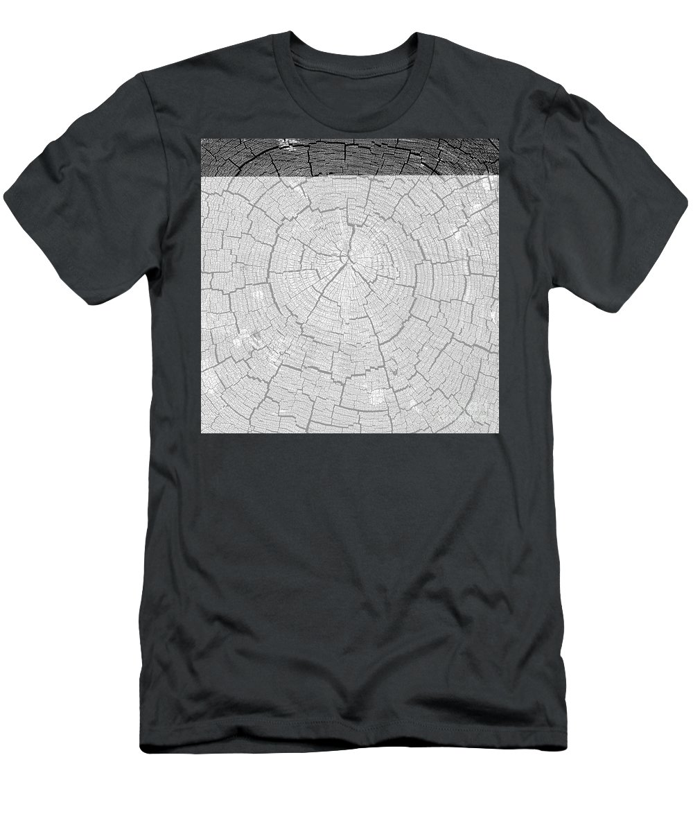 Tree Rings Men's T-Shirt (Athletic Fit) featuring the photograph Rings Of Life by David Lee Thompson