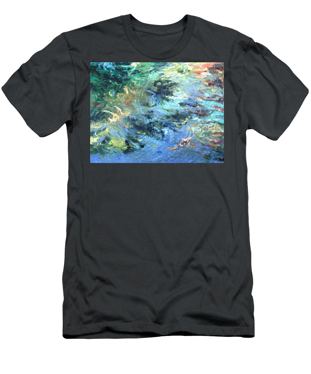 Marine Men's T-Shirt (Athletic Fit) featuring the painting Reef by Rick Nederlof