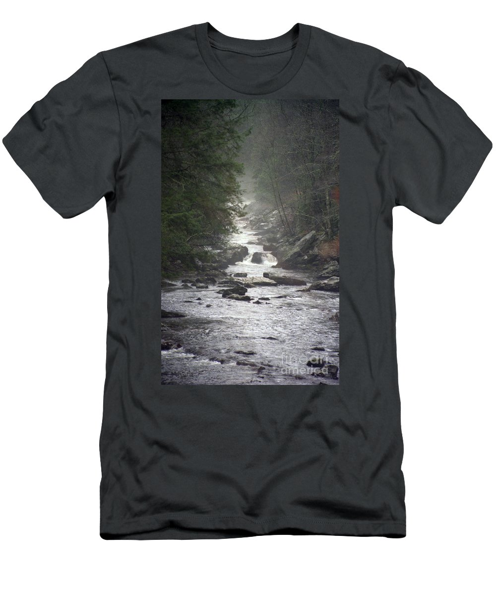 River Men's T-Shirt (Athletic Fit) featuring the photograph River Run by Richard Rizzo