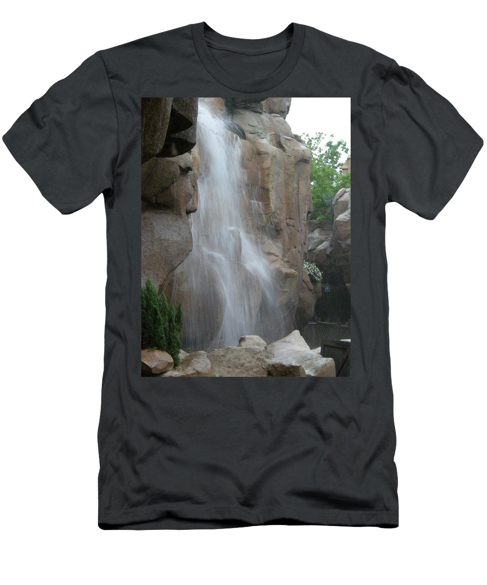 Rocks Men's T-Shirt (Athletic Fit) featuring the photograph Rock Falls by Alice Markham