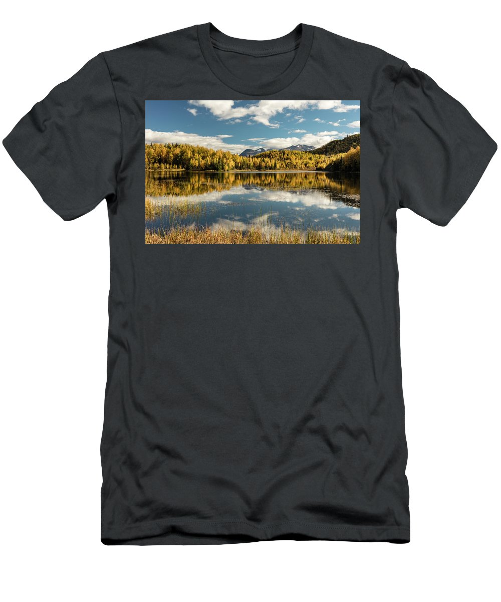 Alaska Men's T-Shirt (Athletic Fit) featuring the photograph Rock Lake by Ray Bulson