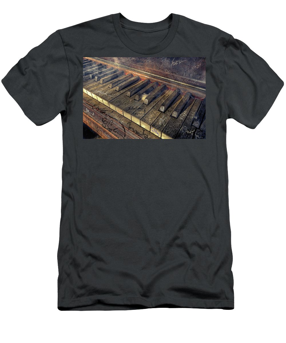 Rock T-Shirt featuring the photograph Rock Piano Fantasy by Mal Bray