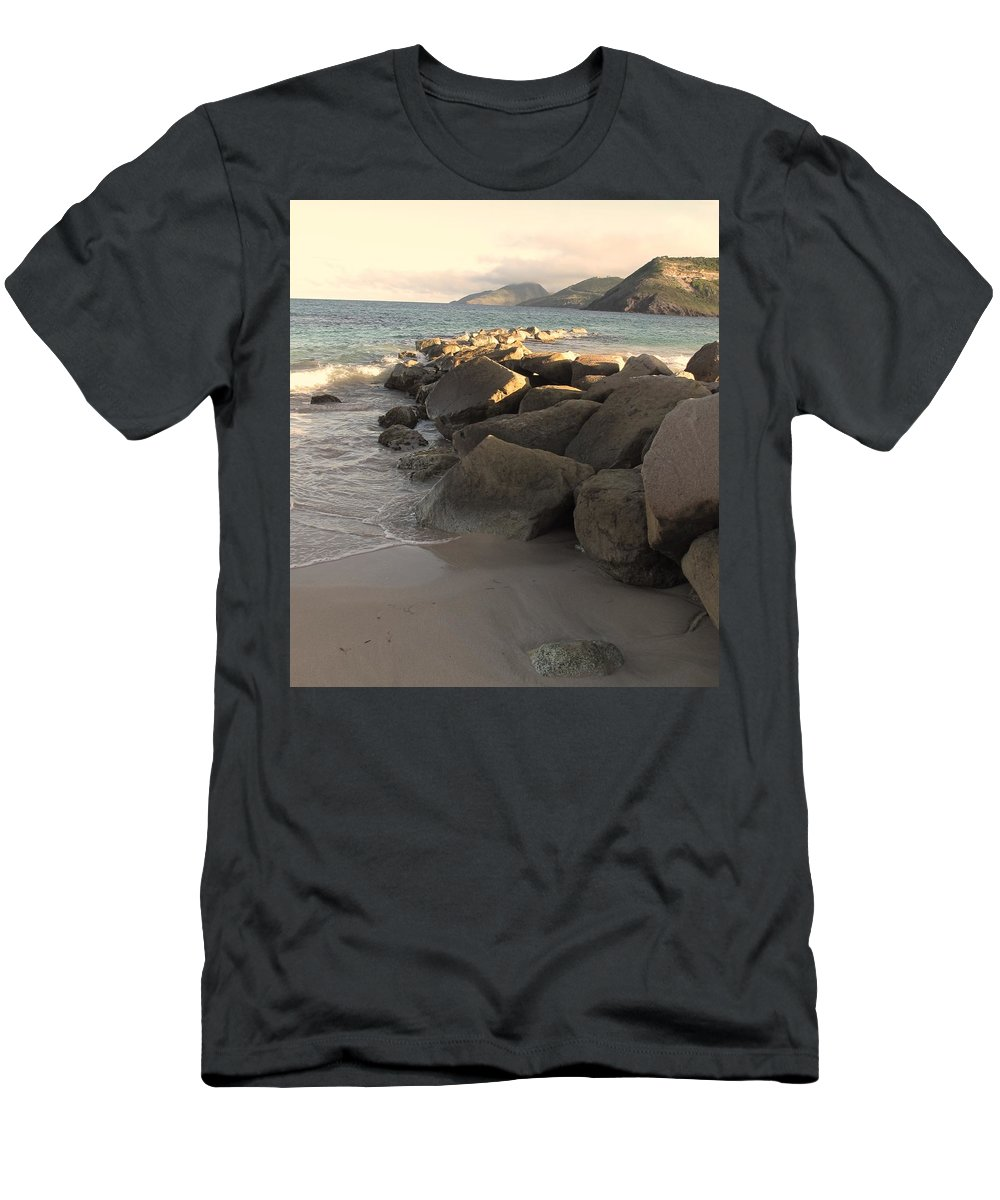 Boulders Men's T-Shirt (Athletic Fit) featuring the photograph Rocks And Hills by Ian MacDonald