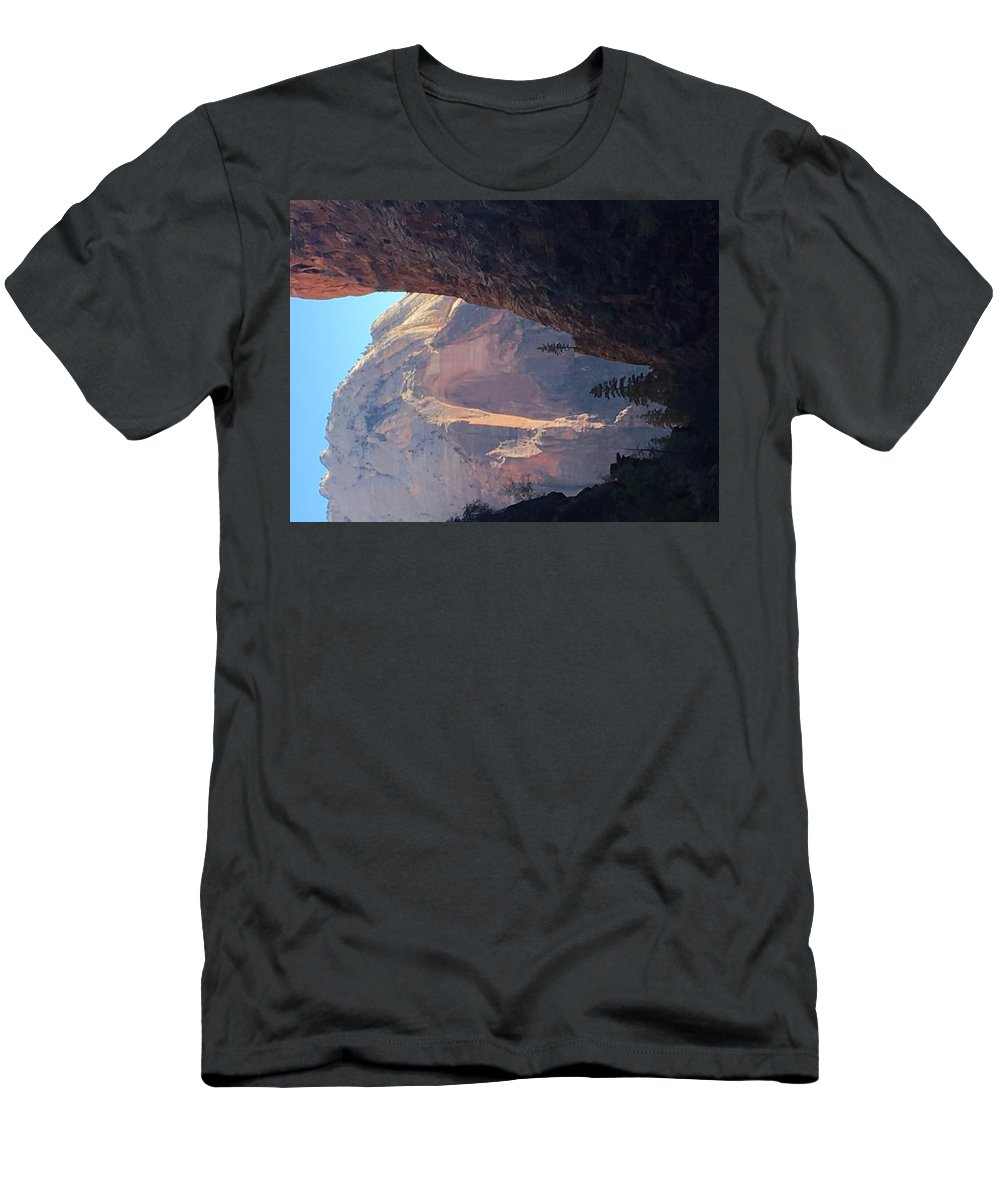 Tree Men's T-Shirt (Athletic Fit) featuring the photograph Rocky Growth by Josh Henderson