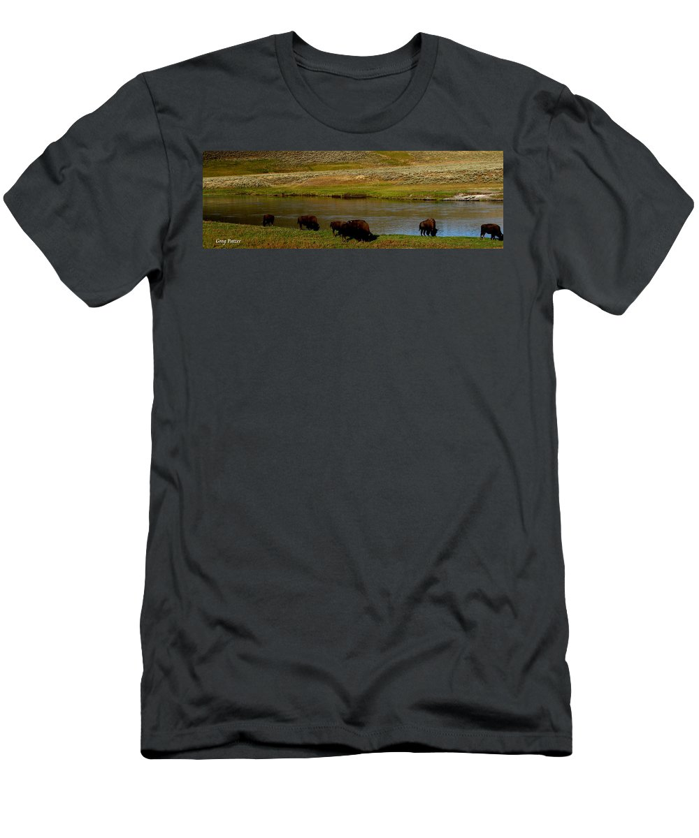 Patzer Men's T-Shirt (Athletic Fit) featuring the photograph Roll On Roll On by Greg Patzer