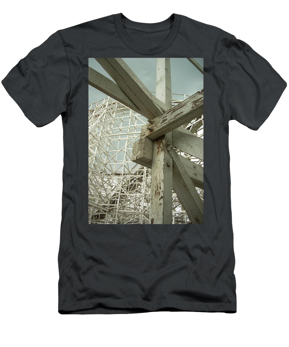Roller Coaster Men's T-Shirt (Athletic Fit) featuring the photograph Roller Coaster 2 by Sara Stevenson